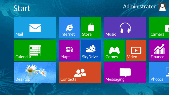 Window 8 Screenshot